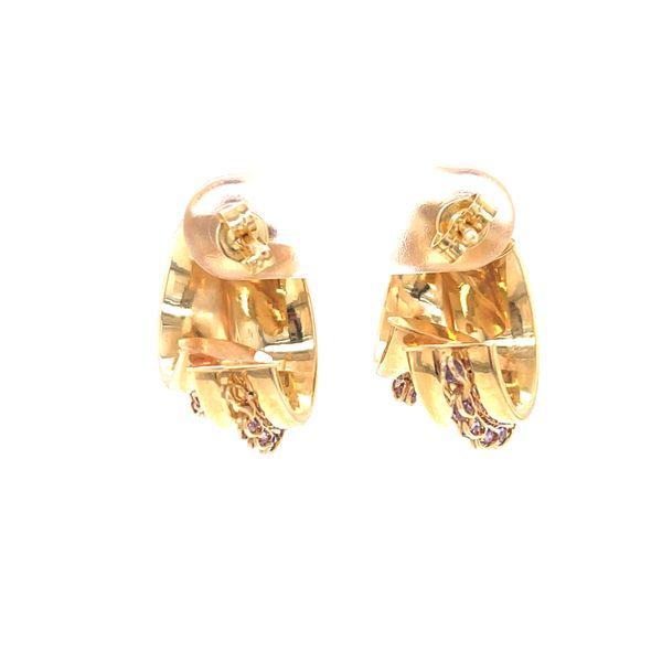 14K Medium Hoop Earrings with Amethyst Image 2 Martin Busch Inc. New York, NY