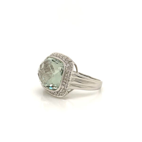 Green Amethyst and Diamond Ring  Image 2 Martin Busch Inc. New York, NY