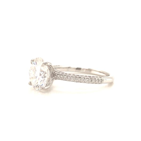 Round White Gold Pave Moissanite Engagement Ring Image 2 Martin Busch Inc. New York, NY