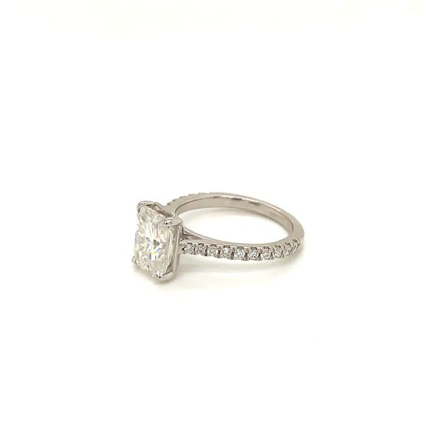 Moissanite and Diamond Engagement Ring Image 2 Martin Busch Inc. New York, NY
