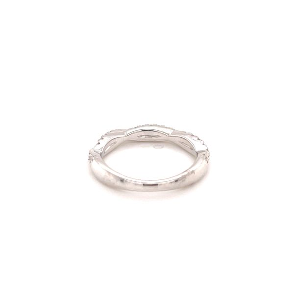 14K White Twisted Diamond Band Image 3 Martin Busch Inc. New York, NY