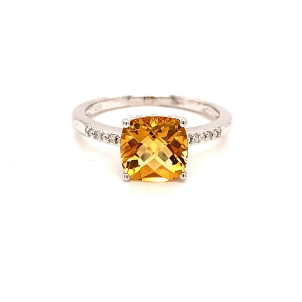 Sterling Silver Citrine and Diamond Ring Martin Busch Inc. New York, NY