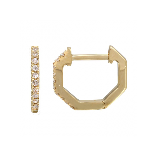 14K Yellow Gold Diamond Earrings Martin Busch Inc. New York, NY