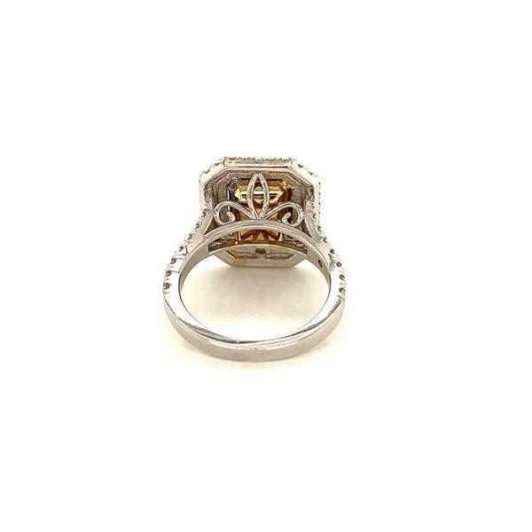 Yellow Diamond Double Halo Ring Image 3 Martin Busch Inc. New York, NY