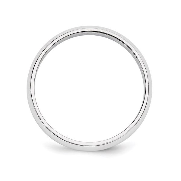 5MM White Gold Wedding Band Image 2 Martin Busch Inc. New York, NY