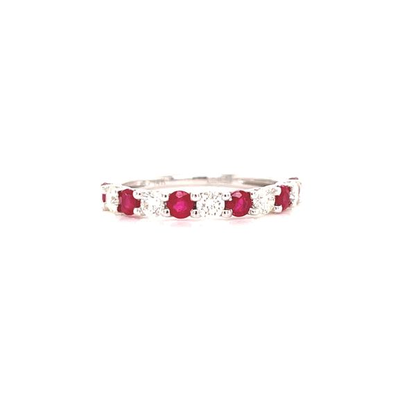 White Gold Ruby and Diamond Ring Martin Busch Inc. New York, NY