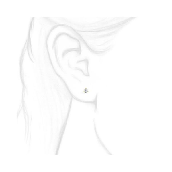 18K Single Diamond Stud Earring Image 3 Martin Busch Inc. New York, NY