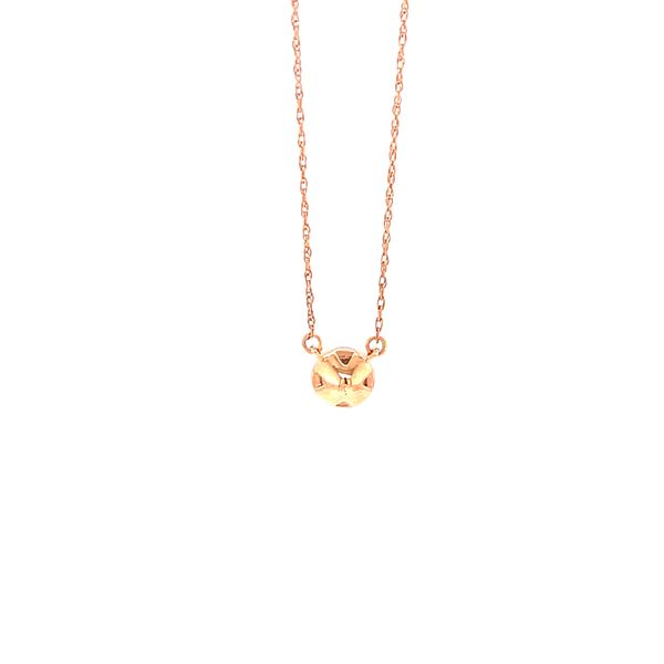 Rose Gold Diamond Drop Pendant Image 3 Martin Busch Inc. New York, NY