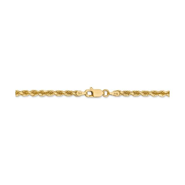 Gold Solid Rope Chain Image 3 Martin Busch Inc. New York, NY