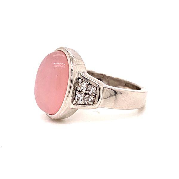 Sterling Silver Pink Quartz Ring Image 2 Martin Busch Inc. New York, NY