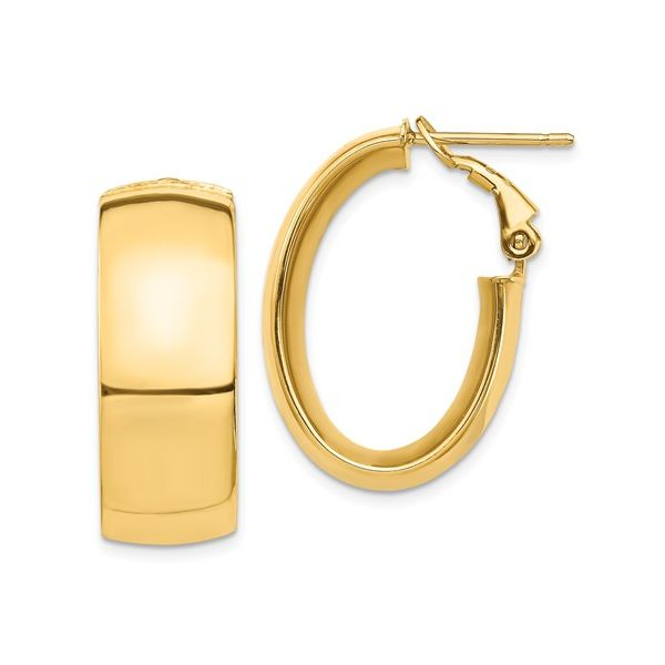Gold Omega Back Hoops Martin Busch Inc. New York, NY