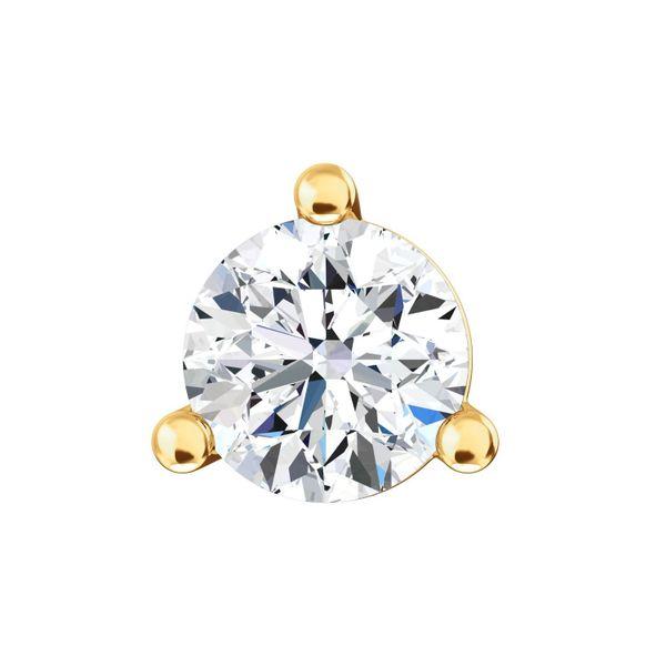18K Single Diamond Stud Earring Image 2 Martin Busch Inc. New York, NY