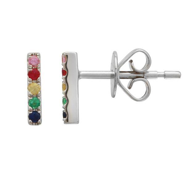 Multi Color Bar Stud Earrings Martin Busch Inc. New York, NY