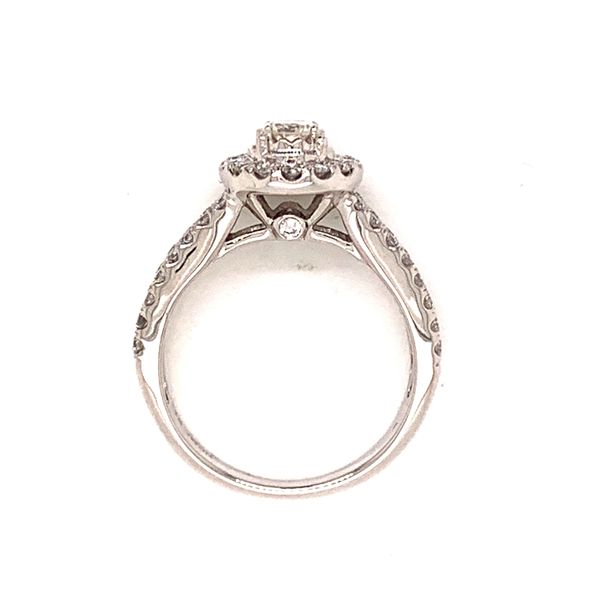 Halo Split Shank Engagement Ring Image 3 Martin Busch Inc. New York, NY
