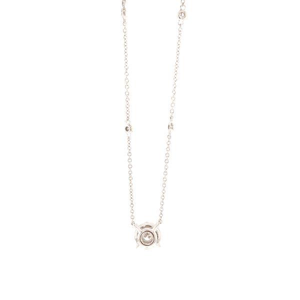 Diamond Cluster Station Necklace Image 3 Martin Busch Inc. New York, NY