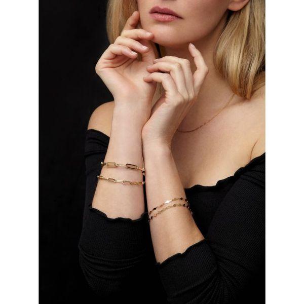 14K Paper Clip Bracelet Image 3 Martin Busch Inc. New York, NY
