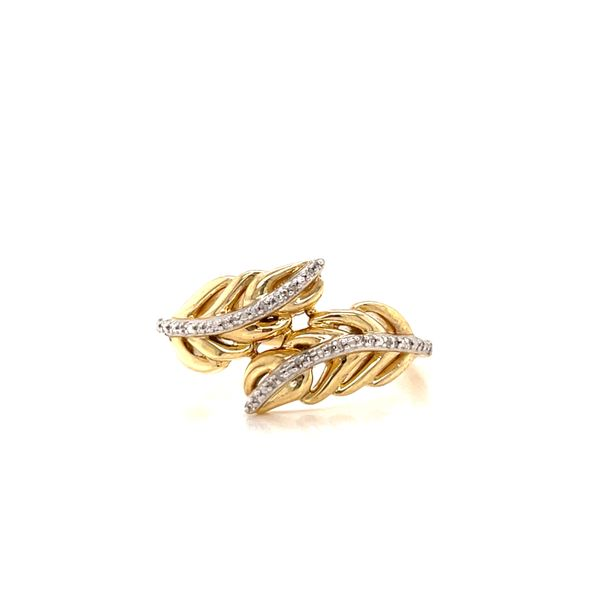 10K Yellow Gold and Diamond Leaf Ring  Martin Busch Inc. New York, NY