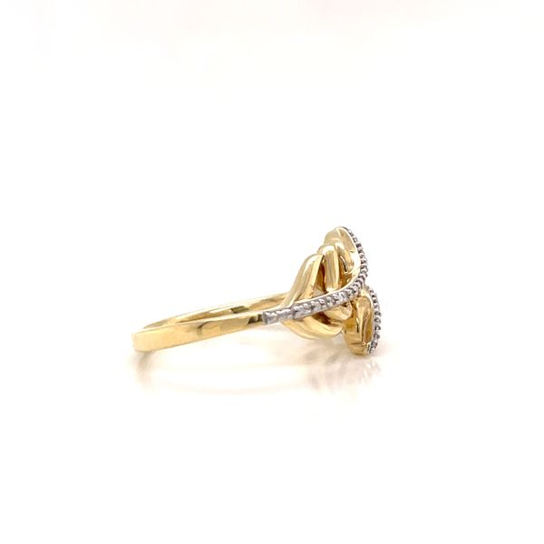 10K Yellow Gold and Diamond Leaf Ring  Image 2 Martin Busch Inc. New York, NY