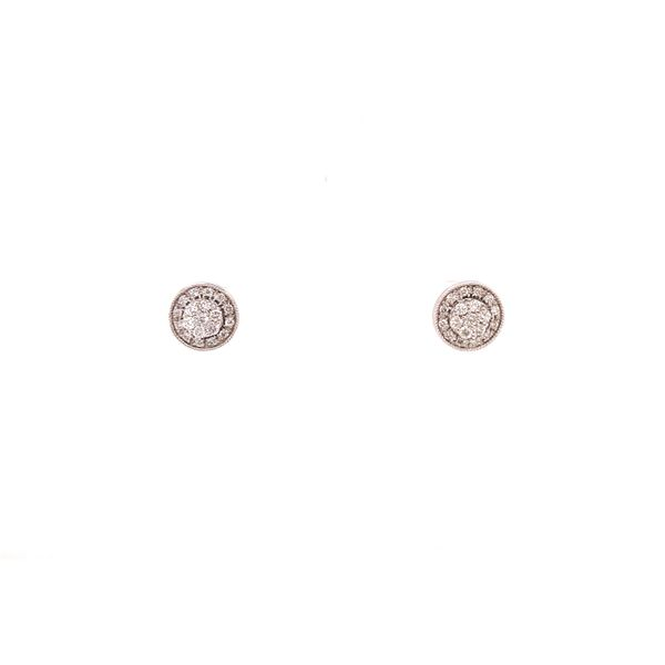 White Gold Stud Cluster Earrings Martin Busch Inc. New York, NY