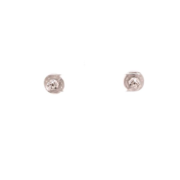 White Gold Stud Cluster Earrings Image 3 Martin Busch Inc. New York, NY