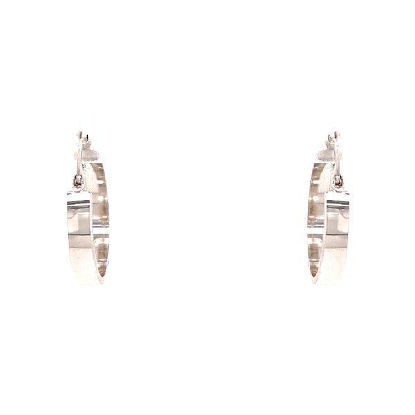 White Gold Medium Hoop Earrings Martin Busch Inc. New York, NY