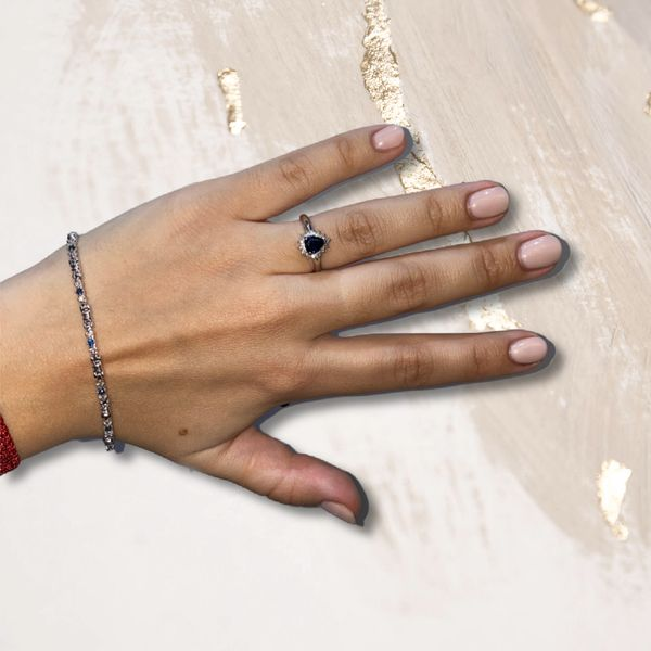 Sapphire & Diamond Bracelet Image 3 Martin Busch Inc. New York, NY