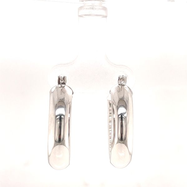 Oval Hoop Earrings Image 3 Martin Busch Inc. New York, NY