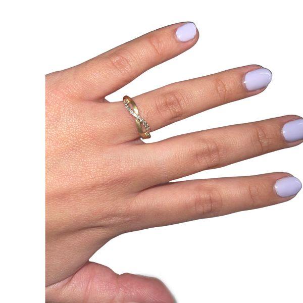 Intertwined Diamond Band Image 4 Martin Busch Inc. New York, NY