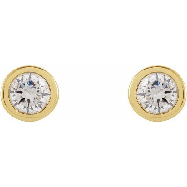 Micro Bezel Diamond Stud Earrings Martin Busch Inc. New York, NY