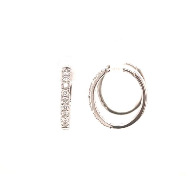 Small Diamond Hoop Earrings Martin Busch Inc. New York, NY