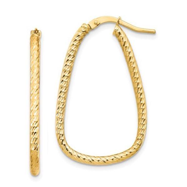 Oblong Hoop Earrings Martin Busch Inc. New York, NY