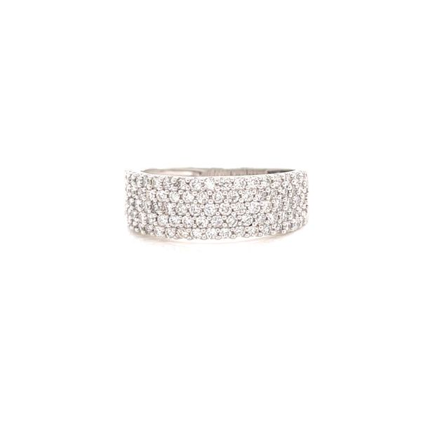 White Gold Pave Wide Band Image 2 Martin Busch Inc. New York, NY