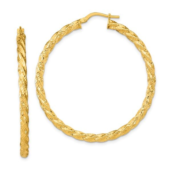 Twisted Yellow Gold Hoops Martin Busch Inc. New York, NY