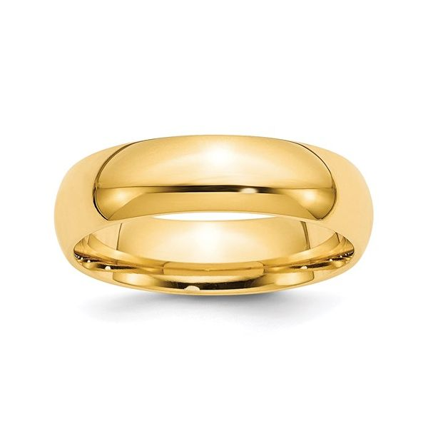 14K Yellow Gold Comfort Fit Wedding Band 6mm Martin Busch Inc. New York, NY