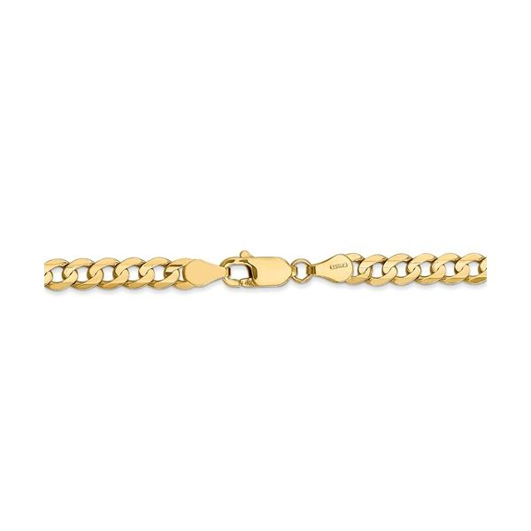 14K Gold Solid Curb Chain Image 2 Martin Busch Inc. New York, NY