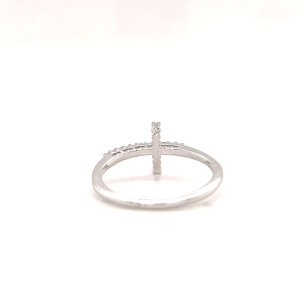 White 14 Karat Cross Ring  Image 2 Martin Busch Inc. New York, NY