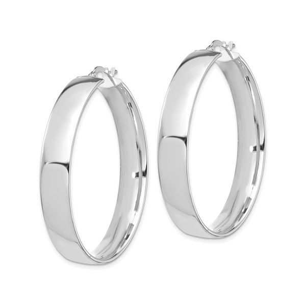 14 Karat White Gold Large Hoop Earrings Image 2 Martin Busch Inc. New York, NY
