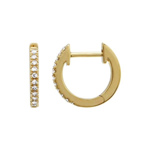 Yellow Gold Diamond Huggies Martin Busch Inc. New York, NY