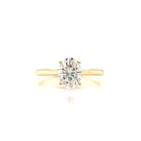 Oval Moissanite Solitaire Engagement Ring Martin Busch Inc. New York, NY