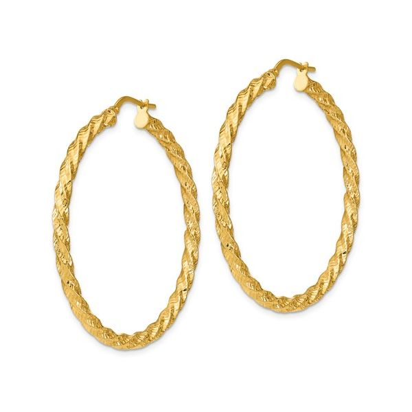 Twisted Yellow Gold Hoops Image 2 Martin Busch Inc. New York, NY