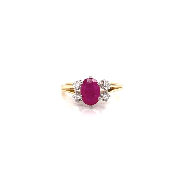 Vintage Ruby & Diamond Ring Martin Busch Inc. New York, NY