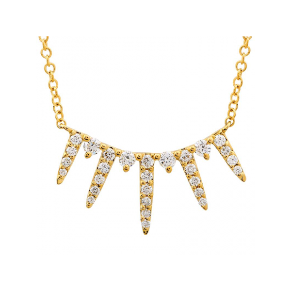 Gold and Diamond Spike Necklace Martin Busch Inc. New York, NY