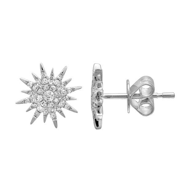 White Gold Starburst Diamond Earrings Martin Busch Inc. New York, NY