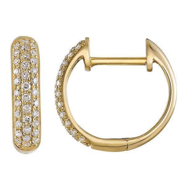 14K Yellow Gold Diamond Huggie Martin Busch Inc. New York, NY
