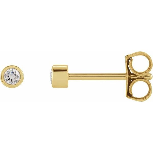 Micro Bezel Diamond Stud Earrings Image 2 Martin Busch Inc. New York, NY