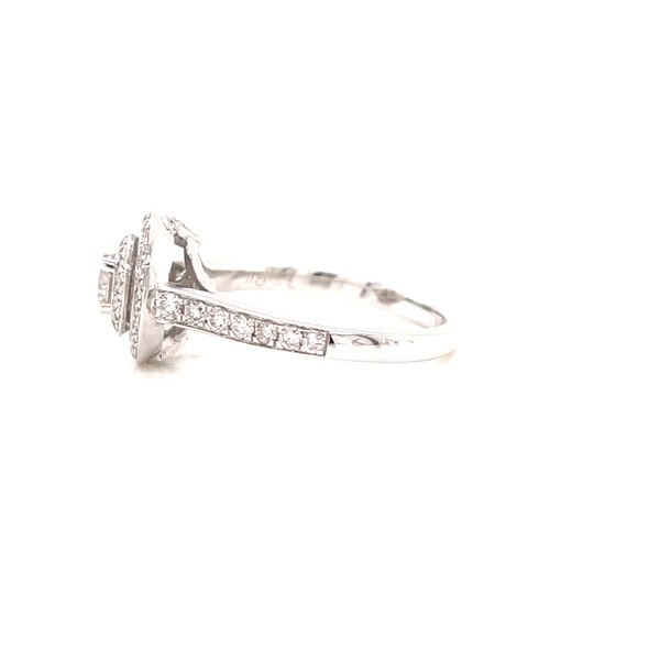 18K Halo Engagement Ring Image 2 Martin Busch Inc. New York, NY