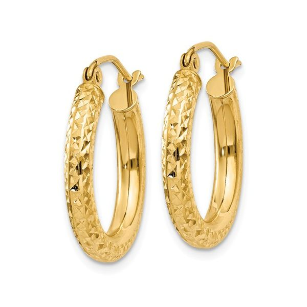 Diamond Cut Hoop Earring Martin Busch Inc. New York, NY