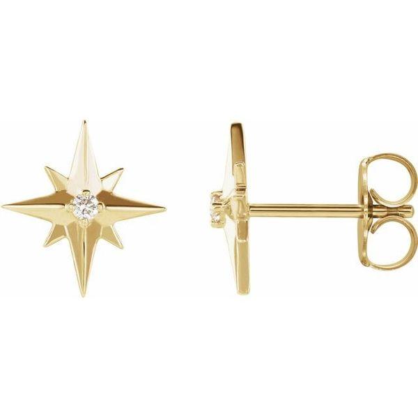 Starburst Diamond Earring Image 2 Martin Busch Inc. New York, NY