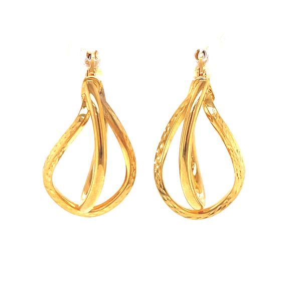 14K Medium Double Hoop Earrings Martin Busch Inc. New York, NY