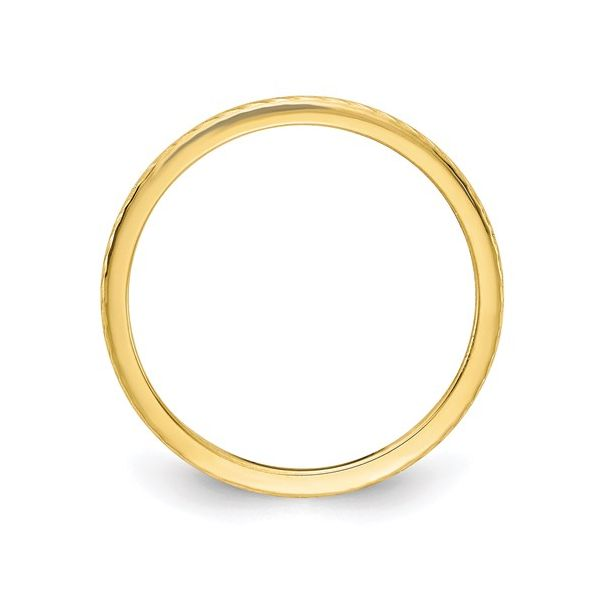 Yellow Gold Wire Finish Stackable Band Image 2 Martin Busch Inc. New York, NY